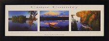 CANOE COUNTRY Images by Gerald Brimacombe 10x26 FRAMED PRINT Photo Picture