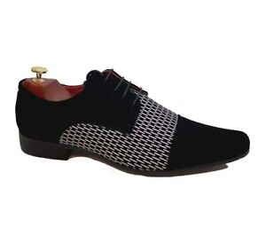 New Men Synthetic Velvet Formal Party Office Casual Wedding Lace Up Smart Shoes