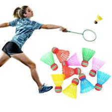 1 10Pcs Colorful Plastic Badminton Shuttlecocks Balls Sport Training