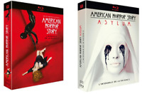 COFFRET BLU RAY SERIE HORREUR : AMERICAN HORROR STORY - SAISONS 1 A 2 COMME NEUF