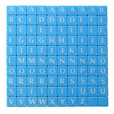 SCRABBLE TILES 100 IVORY PIECES BLACK LETTERS AND NUMBERS NEW FULL SETS