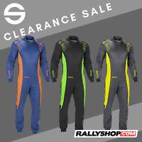 CIK-FIA Sparco Ergo-7 Kart Race Suit BLUE, GREY, BLACK overall CHEAP SALE