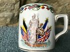 Rare antique Hanley ceramic mug WWI Britannia Sir David Beatty's signal