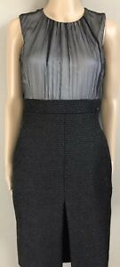 Black Chanel Sleeveless Inset Dress $3235 sz FR 38 US 6 Fall 2009