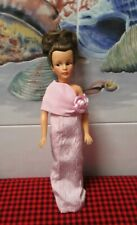 """1963 TAMMY FAMILY """"MOM"""" DOLL~PINK GOWN-NYLONS+PINK HEELS~STUNNING BRUNETTE DOLL!"""