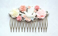 Small Silver Bow Crsytal Wedding Bridal Party Hair Accessories Bohemian party