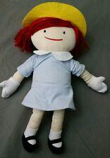 "MADELINE Classic Plush Rag Doll 15"" Cloth Stuffed Doll Book Toy Yottoy Literacy"