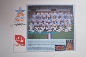 Detroit Drive Team 1990 WLLZ 50 WKBD Fuji Film Vintage Football Poster 18 x 22