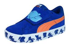 Chaussures bleus avec attache auto-agrippant en cuir pour garçon de 2 à 16 ans