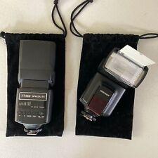 Neewer TT560 Universal Speedlite Flash Lot of 2 w/ Carry Bags