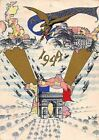 Arc de Triomphe American Liberation Vintage WWII Graphic Art Christmas Card 1944