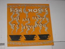 33rpm FISH & ROSES we are happy HOMESTEAD HMS130-1 nice SEE PICS