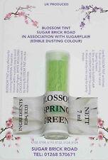 Sugarflair Spring Green Blossom Tint Powder, 7ml, Edible Food Colour Dust