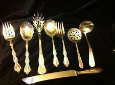 8 Vintage Large Serving Forks/Knife/Spoons Lot~Rogers, International, Shefield