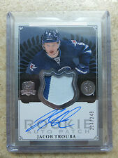 13-14 UD The Cup ARP Autographed Rookie RC Patch #181 JACOB TROUBA /249
