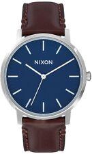 Nixon Porter 40 Cuir Homme Montre Bracelet Marine/Marron