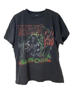 Vintage 1999 Danzig 6:66 Satans Child Band Black Shirt Men's Size Large L