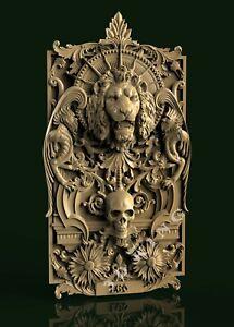 STL 3D Model LION & SKULL for CNC Router Engraver Carving Aspire Artcam 3D Print