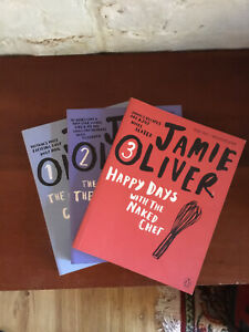 JAMIE OLIVER - NAKED CHEF/RETURN of the NAKED CHEF/HAPPY DAYS COOKBOOKS A1 Cond