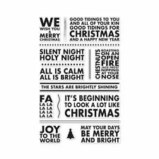 """New Hero Arts """"POSTER CHRISTMAS CAROLS"""" Poly Clear Photopolymer Stamps"""