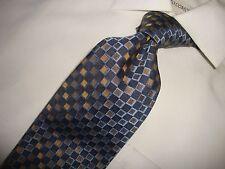 Robert Talbott Studio Blue Multi-Color Checkered 100% Silk Neck Tie 58 X 4 D-104