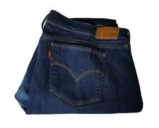 Levis 710 Ladies Jeans W34 L32 Blue Super Skinny Stretch Waist 34in Leg 32in
