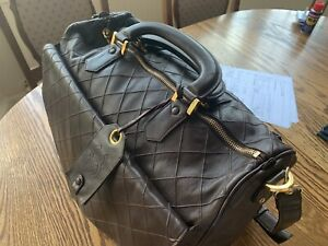 Chanel Brown Vintage Travel Size/Duffle Bag