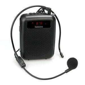 Portable FM Radio Speaker Voice Amplifier Recorder for Teaching/Meeting/Training
