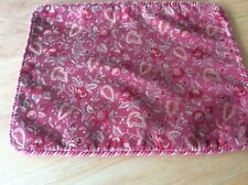 Laura Ashley Vintage Terracotta Rectangular Cushion Cover Piped / Rope Brading