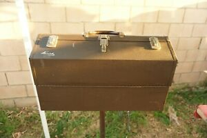 Vintage Kennedy Kits 1022 Cantilever Tool Box  Fold Out Toolbox Tackle Chest