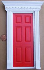 1:12 Échelle Rouge Bois Peint Fairy Ouverture Porte Poupées Maison Accessoire