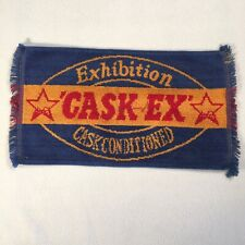 "Vintage Bar Towel Exhibition Cask Conditioned Cask Ex 16""x9"" Breweriana Decor"
