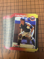 (50) 1989 Donruss Craig Biggio #561 Houston Astros NR-MT+ Recent Set Breaks