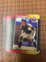 (50) 1989 Donruss Craig Biggio #561 Houston Astros NR-MT+ Recent Set Breaks
