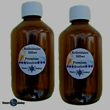 Kolloidales Silber Premium, Braunglas 2X250ml, 25ppm Silberwasser