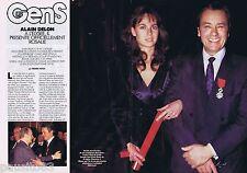 COUPURE DE PRESSE CLIPPING 1991 ALAIN DELON  & ROSALIE (6 pages)