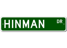 Personalized Last Name Sign HINMAN Street Sign