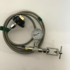 "72"" Wrench-Free Transfill Whip CGA540 to CGA870"