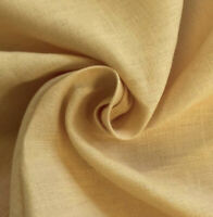 "Gold  100% linen fabric 56"" Width Sold By The Yard"