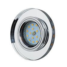 LED Einbau-Strahler Glas Deko Rund Eckig Lichtkranz GU10 Einbau-Leuchte OH-38-39