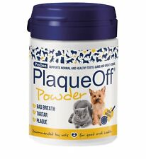 Plaque Off Dog Pets Dogs & Cats 60g Animal Tartar Bad Breath Dental Care Powder