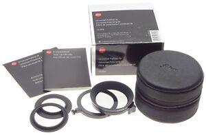 BOX Leica polarizing pol filter M 13356 universal swing out case e39 e46 adapter