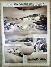 1930 newspaper with 8 pages of photos of  RICHARD BYRD 1st ANTARCTIC EXPEDITION