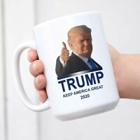 President Donald Trump 2020 Mug Keep America Great Mug White Cup Coffee Mug
