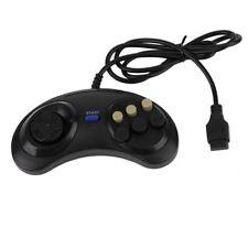 Sega Mega Drive Genesis 6 button controller control pad game pad NEW Black Grey