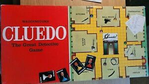 Cluedo 1975 Edition Waddingtons Spares & replacements parts - weapons cards die