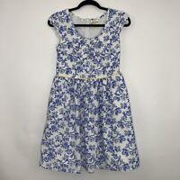 Matilda Jane Women's Floral Tea Party Dress Blue Size 4