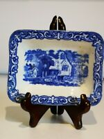 "George Jones and sons,England.Abbey Blue Transfer ware ""Shredded Wheat"" dish"