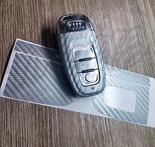 Silver Grey Carbon Key Wrap Cover Audi SMART Remote A1 A3 A4 A5 A6 A8 TT Q3 5 Q7