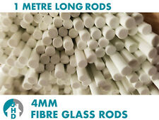 CHEAPEST ON ! 8 x 1m Long Fibre Glass Quality Rods 6mm Thick Roman Blinds